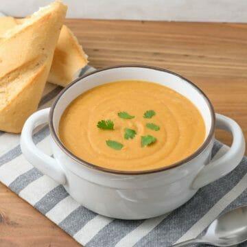 Dairy Free Sweet Turmeric Sweet Potato Soup