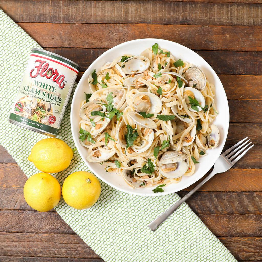Gluten Free Clams Linguini
