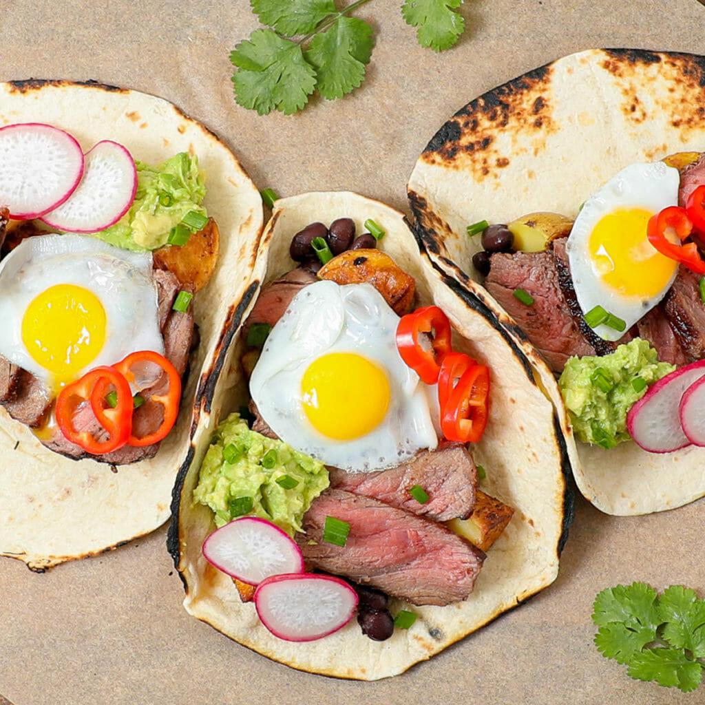 Gluten Free Steak Breakfast Tacos