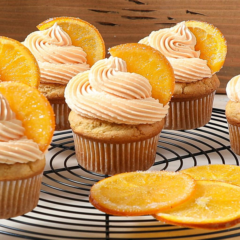 Gluten Free Orange Creamsicle Cupcakes