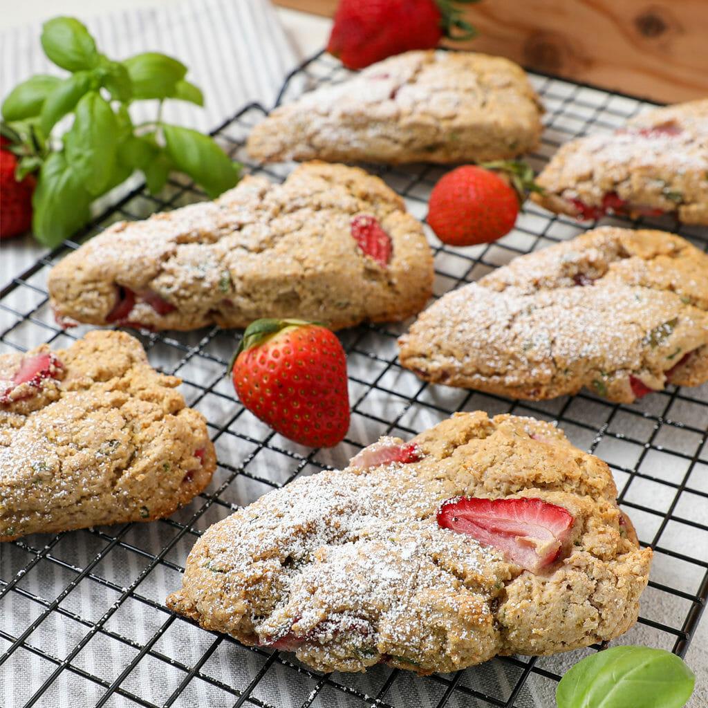 Gluten Free Strawberry Basil Scones