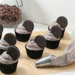 Cookies and Cream Brownie Cupcakes