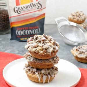 Gluten Free Coconut Granola Coffee Cake Donuts