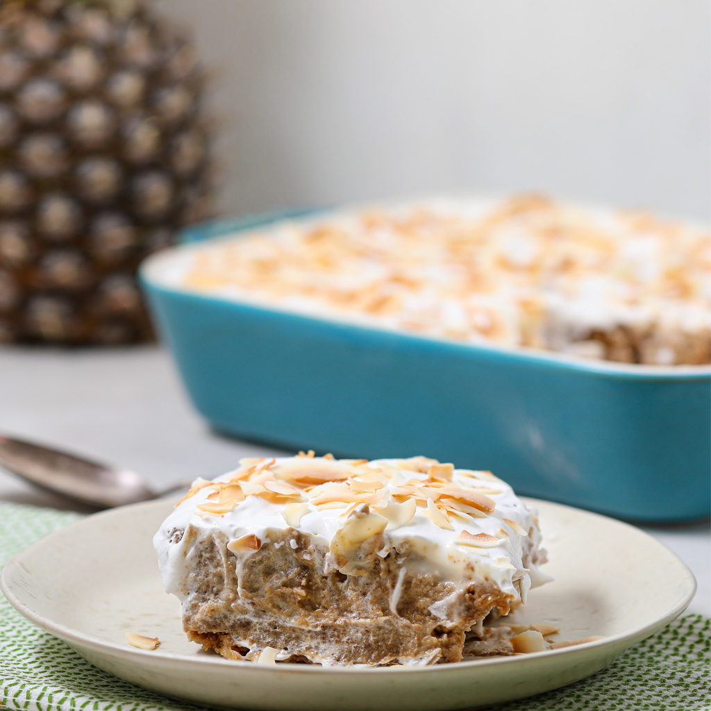 Dairy Free Pineapple Coconut Tres Leches Cake