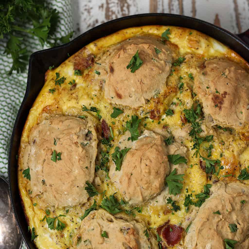 Gluten Free Breakfast Cobbler Casserole