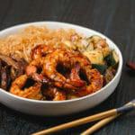 Gluten Free Honey Glazed Shrimp Hibachi Bowls