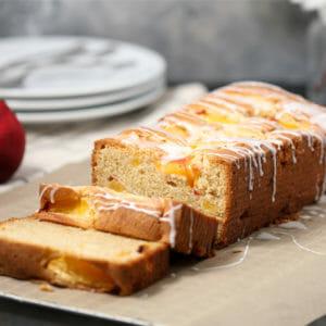 Gluten Free Peaches and Cream Pound Cake