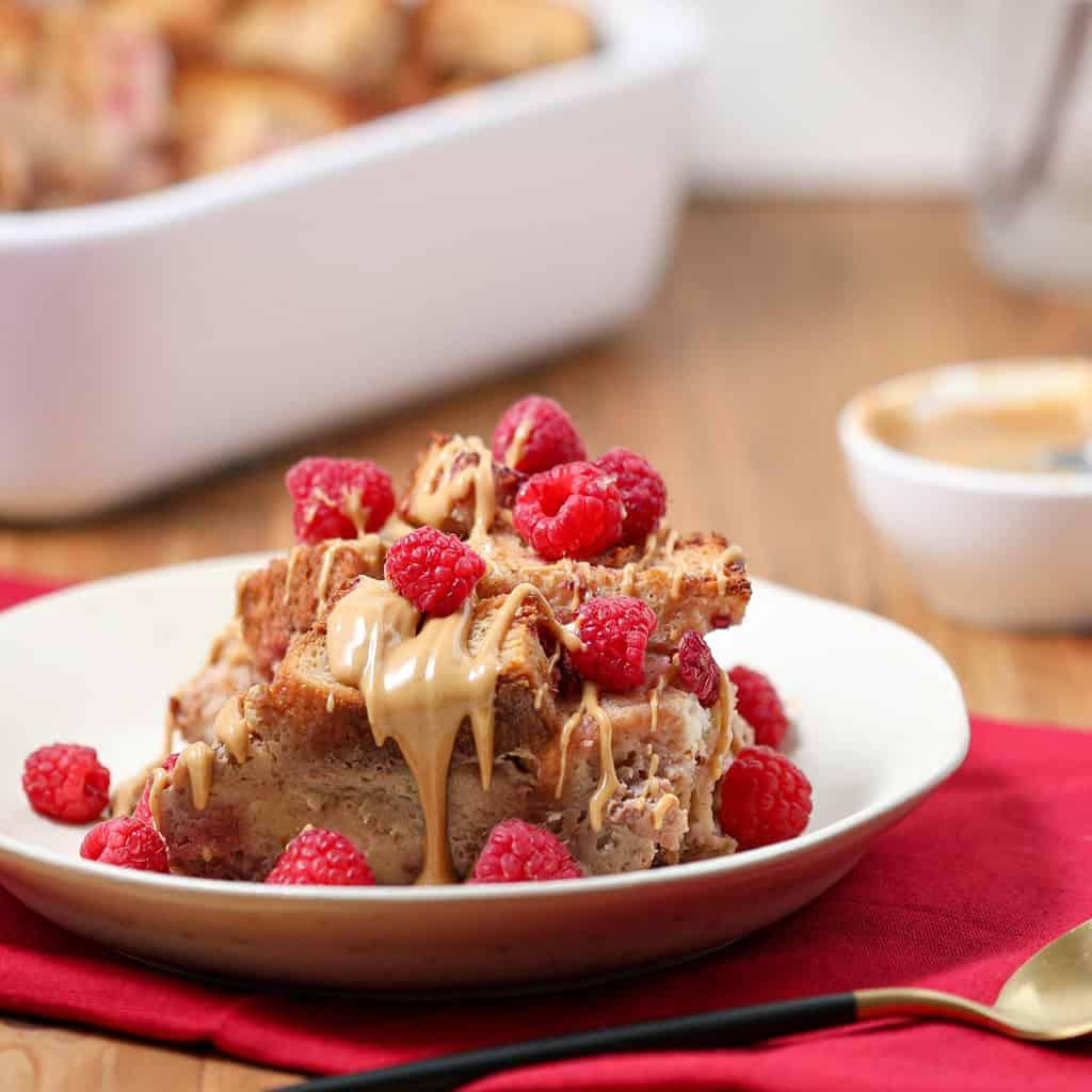 Gluten Free Raspberry-Orange Bread Pudding