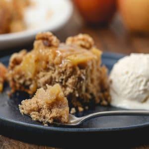 Gluten Free Caramel Apple Upside Down Cake
