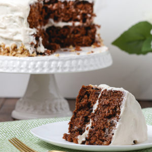 Gluten Free Spiced Carrot Cake with Cream Cheese Frosting